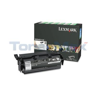 LEXMARK X654DE RP PRINT CARTRIDGE BLACK 36K